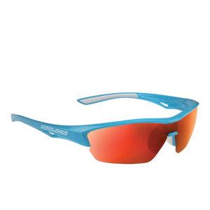 Salice 011 RW Sports Sunglasses - Mirror - Turquoise/RW Red
