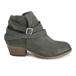 H Shoes by Hudson Women's Horrigan Tie Around Leather Ankle Boots - Smoke