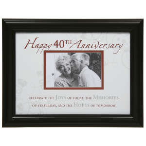 Moments 40th Anniversary Photo Frame
