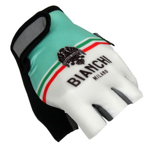 Bianchi Torrenova Cycling Gloves - White/Celeste