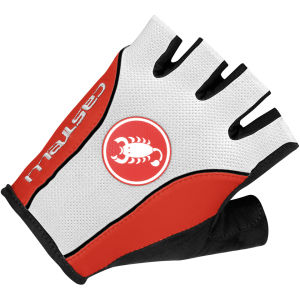 Castelli Free Gloves - White/Black/Red