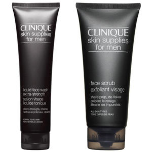 Clinique For Men Wash & Scrub (Extra Strength Bundle)