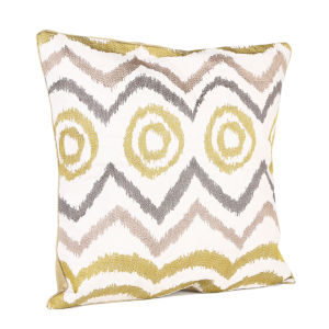 Malini Tribal Embroidered On Faux Linen Cushion