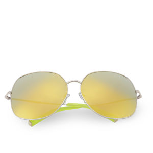 Matthew Williamson Oversized Mirror Lens Sunglasses - Gold