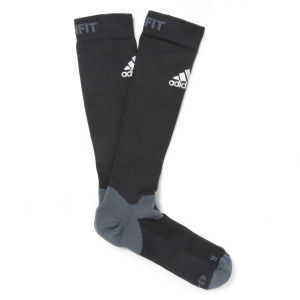 adidas Men's Over the Calf Compression Socks - Vivid Black/Silver