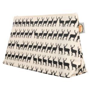 Anorak Women's Kissing Stags Medium Toiletry Bag - Black/Cream