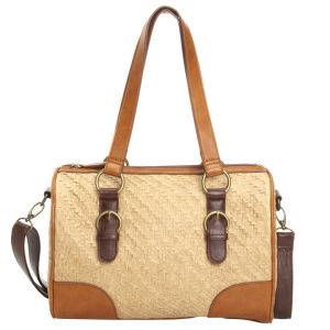 Stylist Pick 'Shala' Straw Bowling Bag - tan