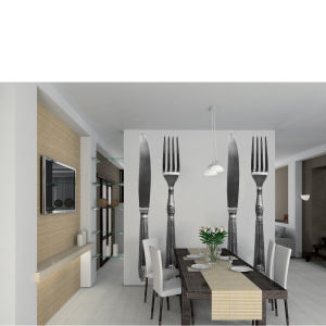 Silverware Knife and Fork Giant Wall Sticker