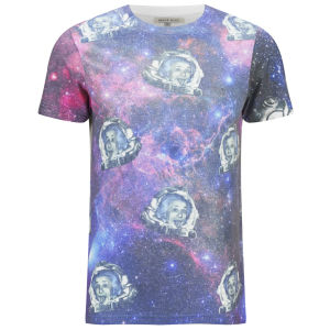 Brave Soul Herren Einstein Printed T-Shirt - Weiß