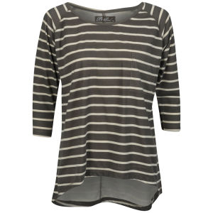 Brave Soul Women's Fraya Striped Top - Cream/Stone Grey