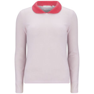 Delicate Love Women's Exclusive Constanze Collar Detail Cashmere Jumper - Pink/Red