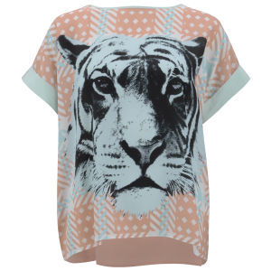 Emma Cook Women's Kaftan Top - Tiger Check
