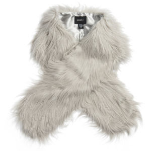 Unreal Fur Faux Fur Fur-Go Scarf - Grey