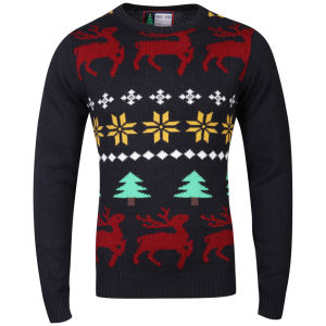 Christmas Branding Jolly Knitted Jumper - Dark Navy