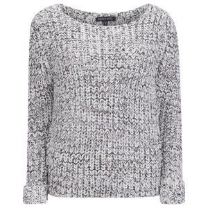 Brave Soul Women's Cuffed Jumper - Grey