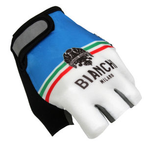 Bianchi Torrenova Cycling Gloves - White/Blue