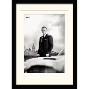 James Bond - Bond and DB5 (Skyfall) Framed and Mounted Print (30x40)