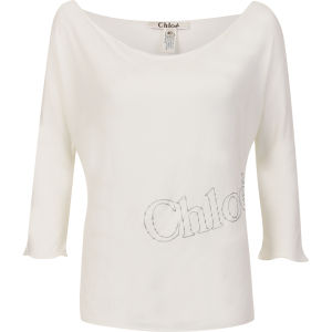 Chloe Women's Sweater With 3/4 Sleeves - White