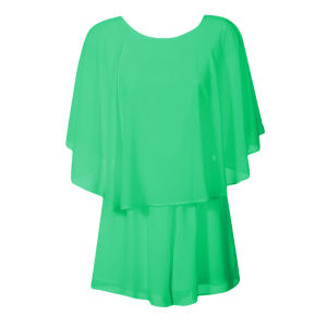 Glamorous Women's Wrap Back Playsuit - Mint Green