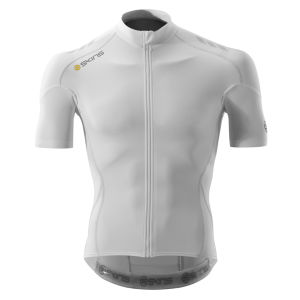 Skins Cycle C400 Men's Compression Short Sleeve Jersey - White/Grey