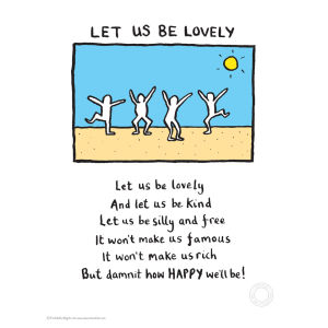 Edward Monkton 'Let us be lovely' limitierte Auflage Kunstdruck