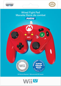 Super Smash Bros Officially Licensed Wired Fight Pad - Mario