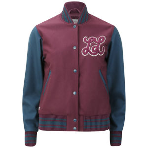 Lacoste L!ve Women's Baseball Jacket - Griottine Cherry