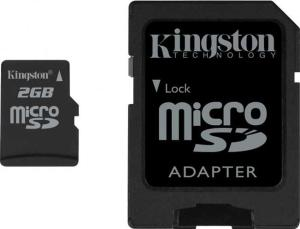 Kingston 2GB MicroSD Card with Adaptor (SDC/2GB)