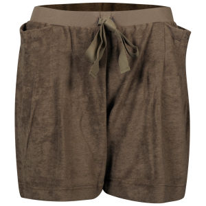 Chloe Women's Velour Shorts - Brown