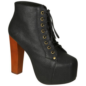 Jeffrey Campbell Women's Lita Shoes - Black Leather