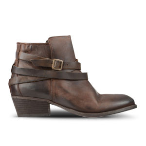 H by Hudson Women's Horrigan Calf Leather Ankle Boots - Tan