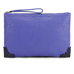 McQ Alexander McQueen Leather Tech Clutch Bag - Cobalt