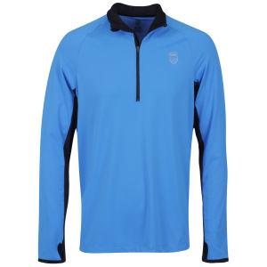 K-Swiss Men's Half-Zip Jacket - Brilliant Blue/Black