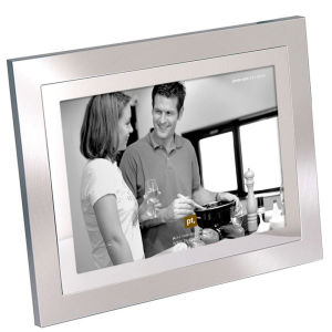 Present Time 2 Tone Steel Large Photo Frame