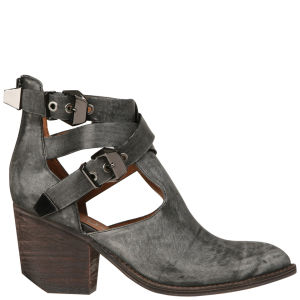 Jeffrey Campbell Everwell Buckle Leather Ankle Boots - Black