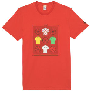 Le Coq Sportif Tour de France N11 Short Sleeved T-Shirt Vintage - Red
