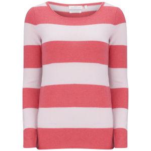 Delicate Love Women's Corali Stripe Cashmere Jumper - Red/Pink