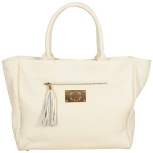 Jack French Women's 'The Belgrave' Leather Tote - Cream