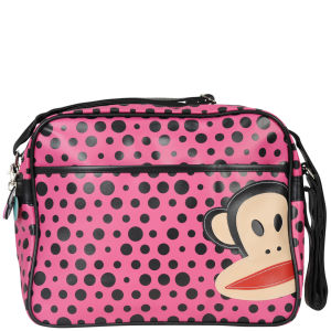 Paul Frank Polka Dot Messenger Bag - Fuschia