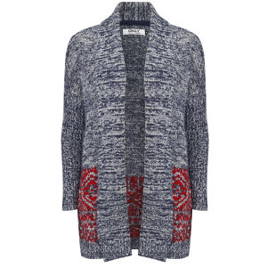 Only Women's Misty Long Cardigan - Black Iris
