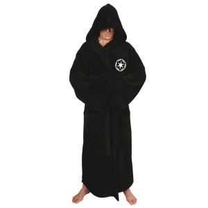 Star Wars Galactic Empire Towelling Bathrobe - Black (One Size)