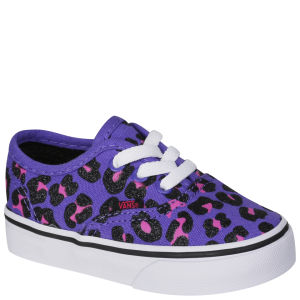 Vans Toddlers' Authentic Canvas Trainers - Cheetah Glitter - Purple