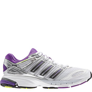 adidas Women's Response Stabil 5 Running Shoe - White/Nightmet/Ray Purple