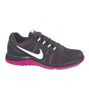 Nike Women's Dual Fusion Run 3 Running Shoes - Black/Pink