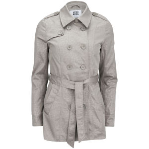 Vero Moda Women's Gardenia Tonal Print Trench Coat - Moon Rock