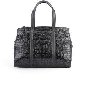 Paul Smith Accessories Women's Double Zip Leather Tote Bag - Black
