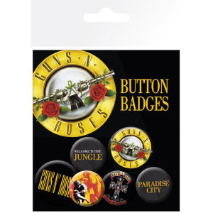 Guns N Roses Lyrics and Logos - Badge Pack