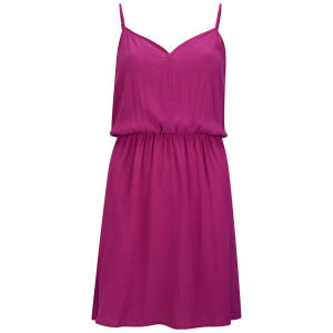 VILA Women's Founder Swing Dress - Very Berry