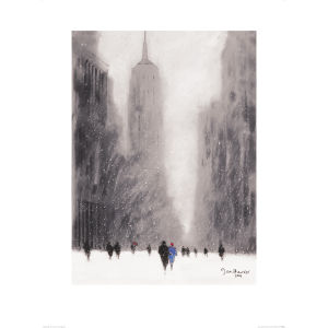 Jon Barker - Heavy Snowfall, 5th Avenue - New York Art Print (60x80)