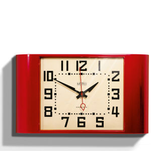 Metro Wall Clock - Red